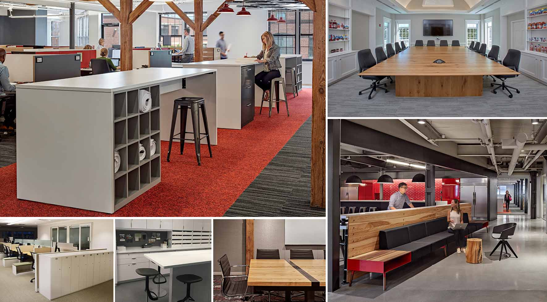 custom office furniture design. Collage Of Custom Furniture Solutions By Create Red Thread Office Design I