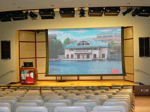 boston university questrom school of business incorporates the latest AV technology