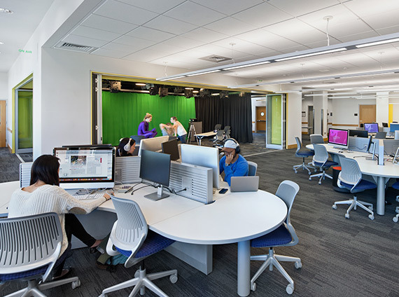 dartmouth college's jones media center incorporates cutting edge technology