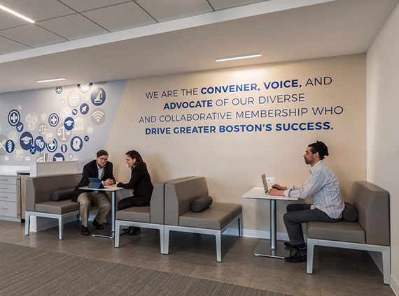GBCC's office provides its people different ways of working