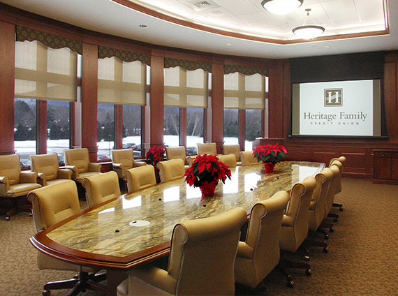 heritage fcu incorporates technology into its board room