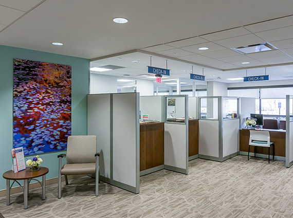 L+M Hospital check-in kiosks utilize Steelcase Answer