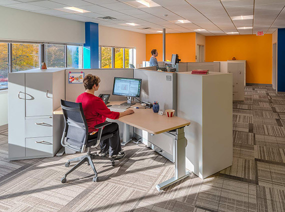 VT gas systems' new workspace revitalizes their company and culture