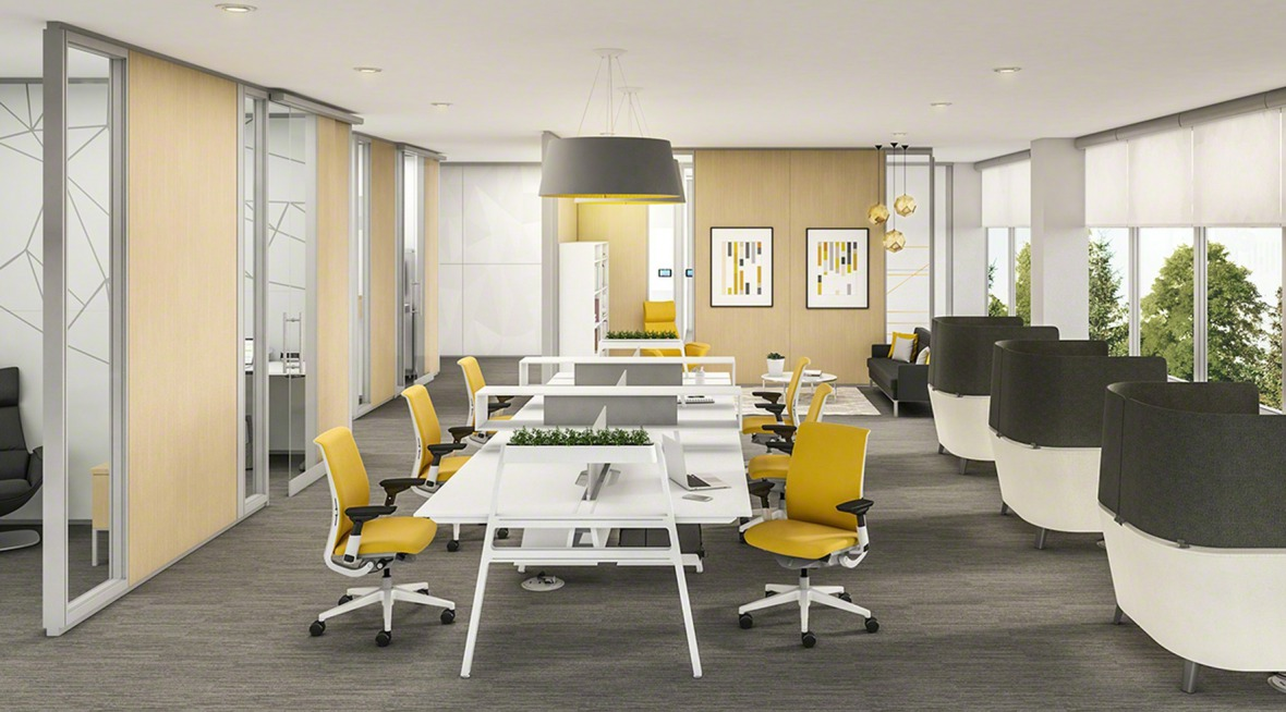Designing an open plan office