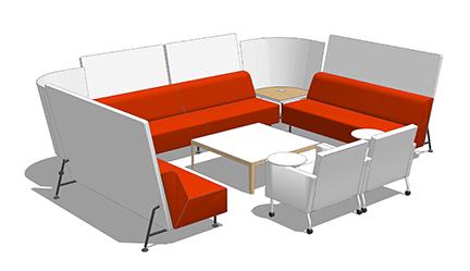 Lounge settings at work