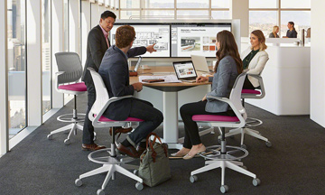 Collaboration in the open plan office