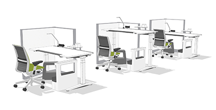 workstations with privacy