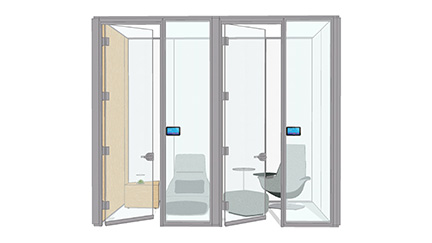 Demountable walls for privacy
