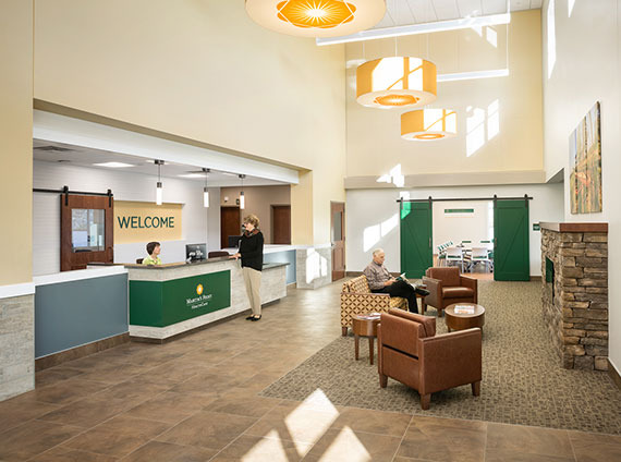 Check-in healthcare lobby