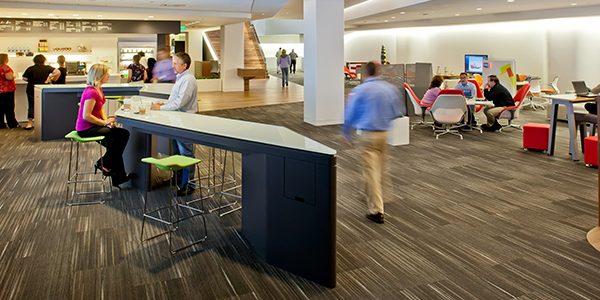 Recharge at work by eating lunch away from your desk