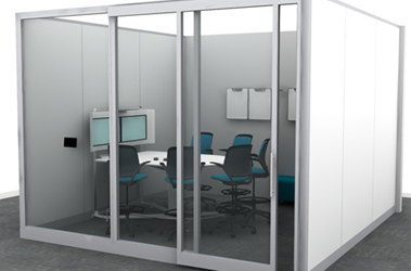 collaborative space demountable walls