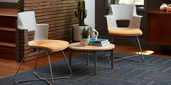 ancillary furniture trends, including painted wire legs for chairs