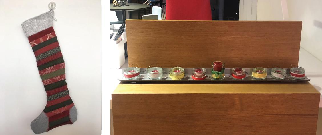 wreath menorah stocking auction
