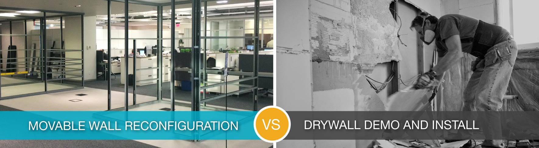 demountable walls versus traditional construction