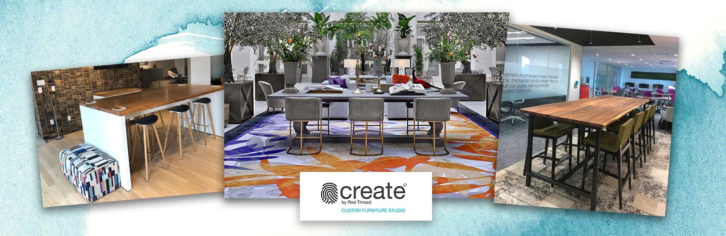 Custom office furniture manufactured by Create by Red Thread