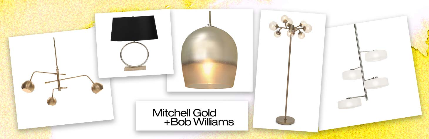 Ancillary workplace lighting by Mitchell Gold and Bob Williams