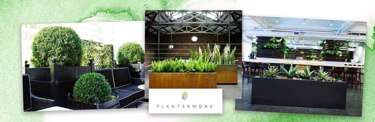 Elegant commercial planters by Planterworx