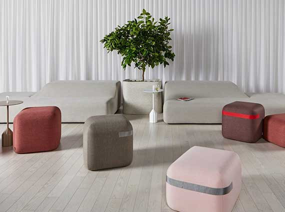 Ancillary lounge furniture by Viccarbe