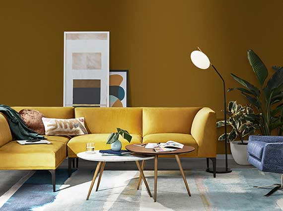 Informal residential workplace setting by West Elm