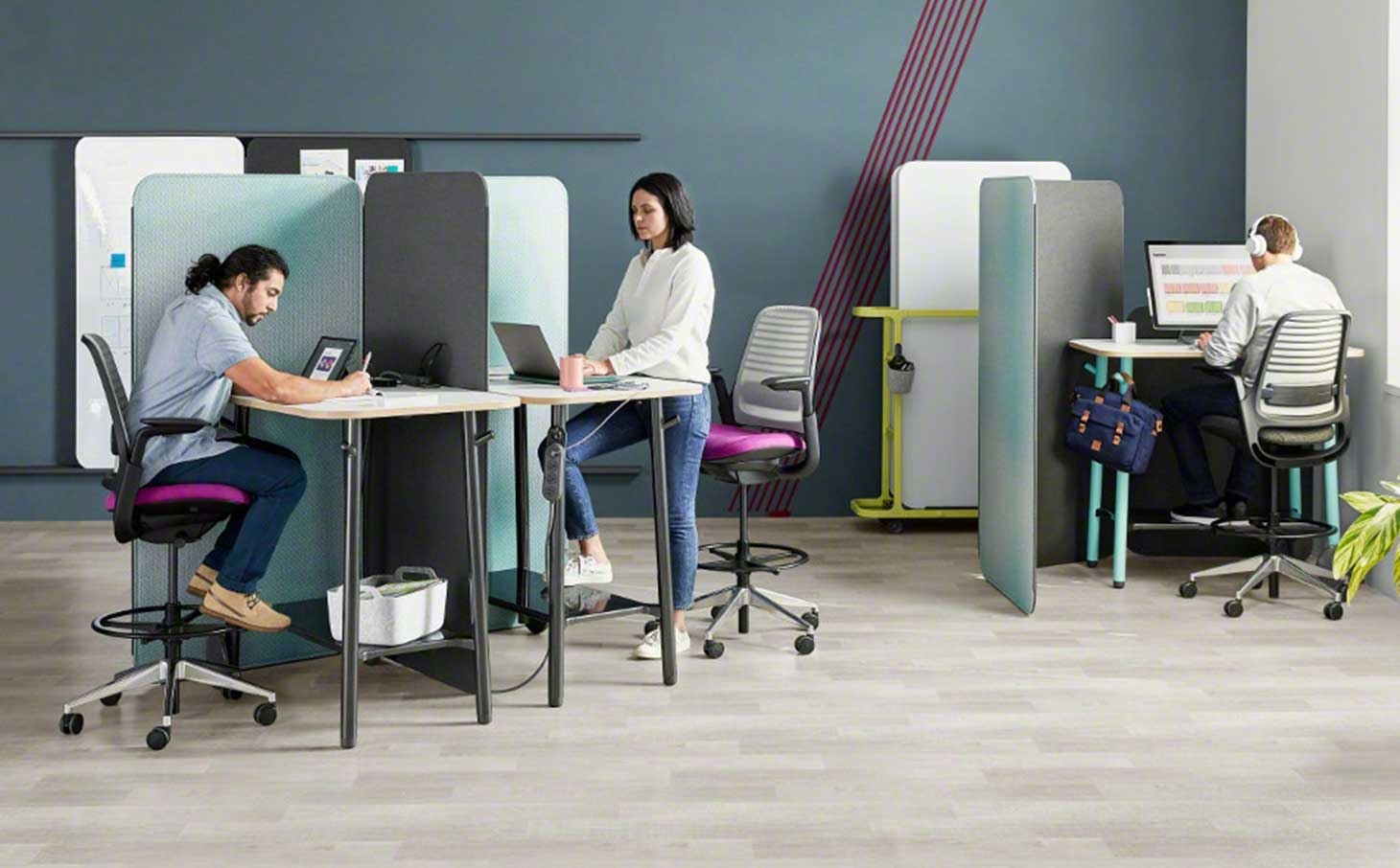 Focused work using Steelcase Flex Collection