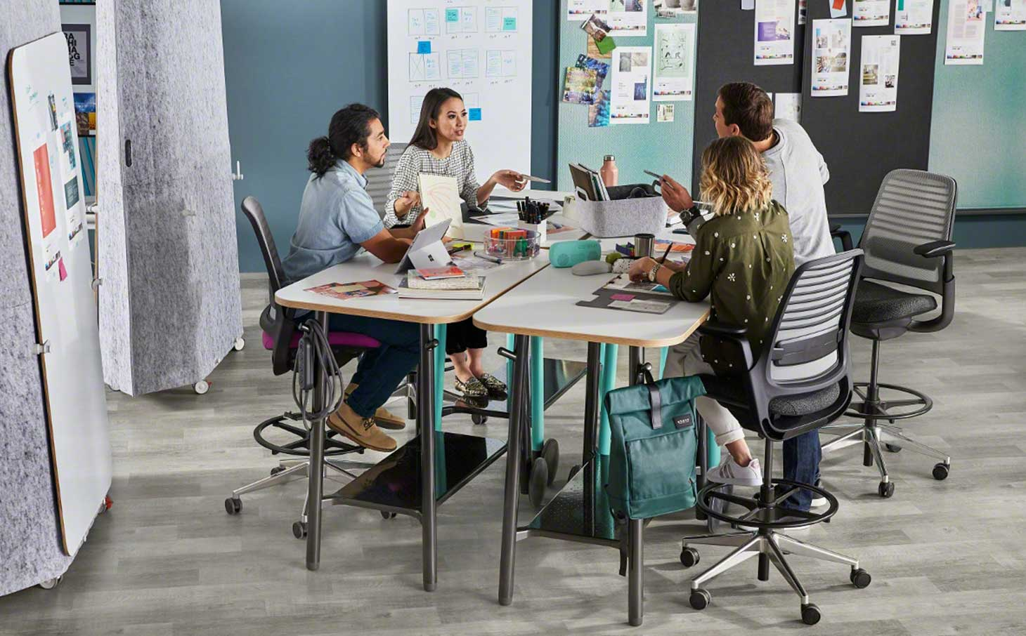 Small group collaboration using Steelcase Flex Collection