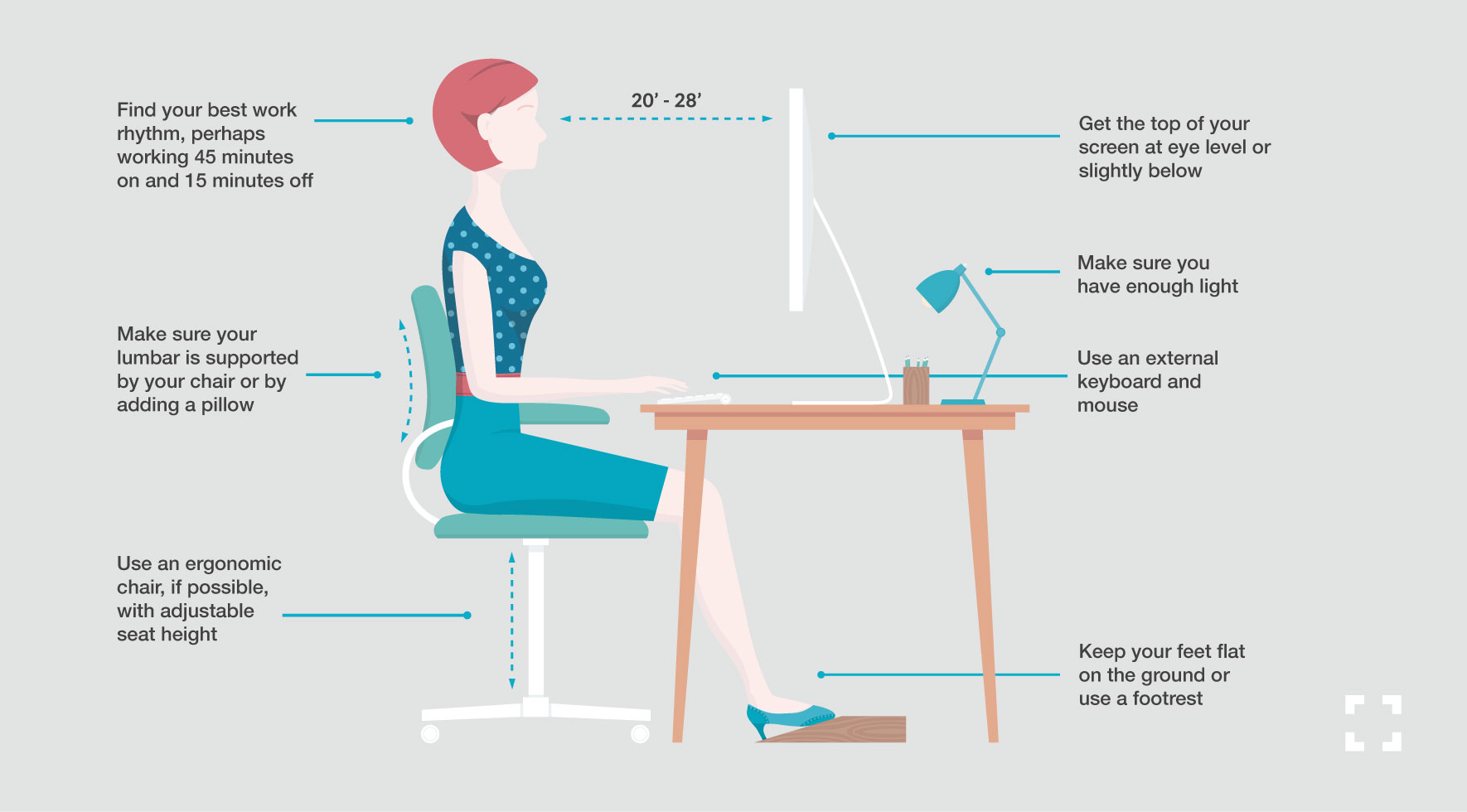 Tips To Create An Ergonomic Home Office With Existing Materials Around The House