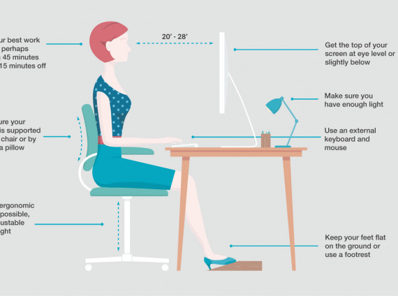 Ergonomic working from home tips