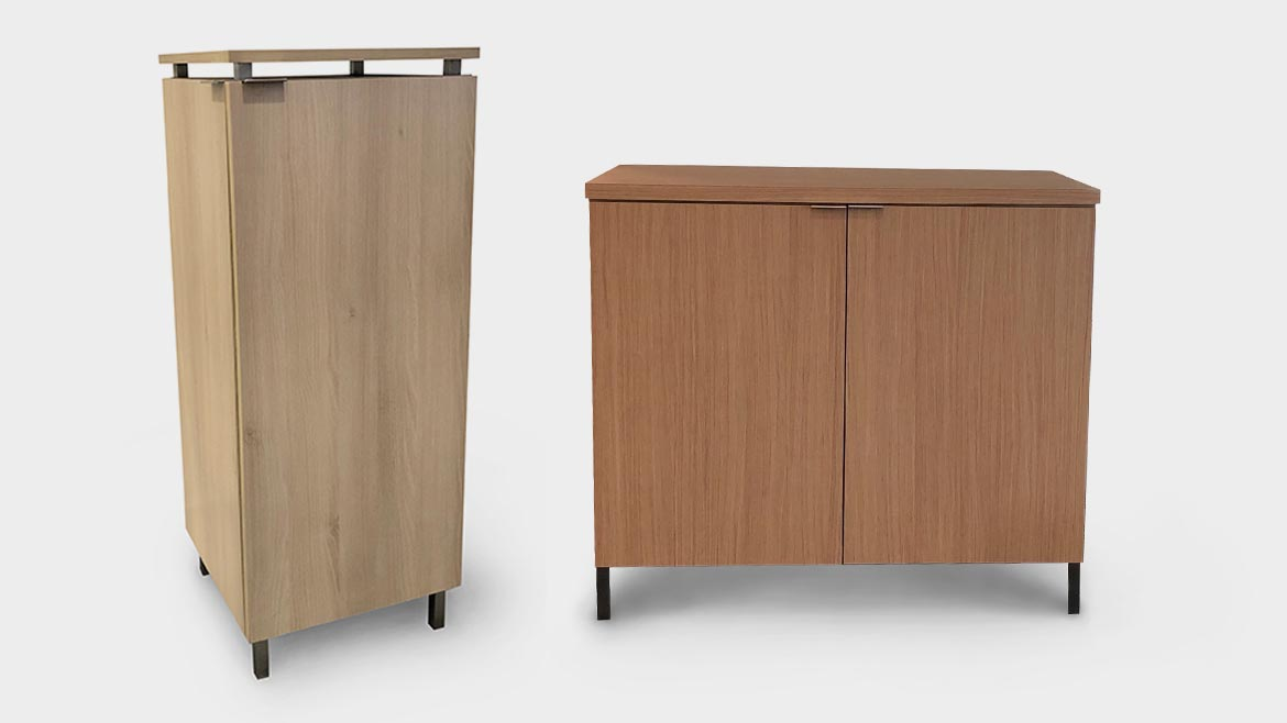 PurifySpaces Credenza and Tower models