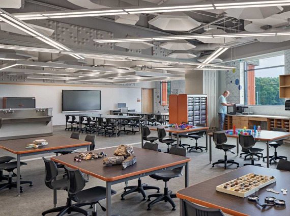 CREC Academy of Aerospace & Engineering makerspace classroom