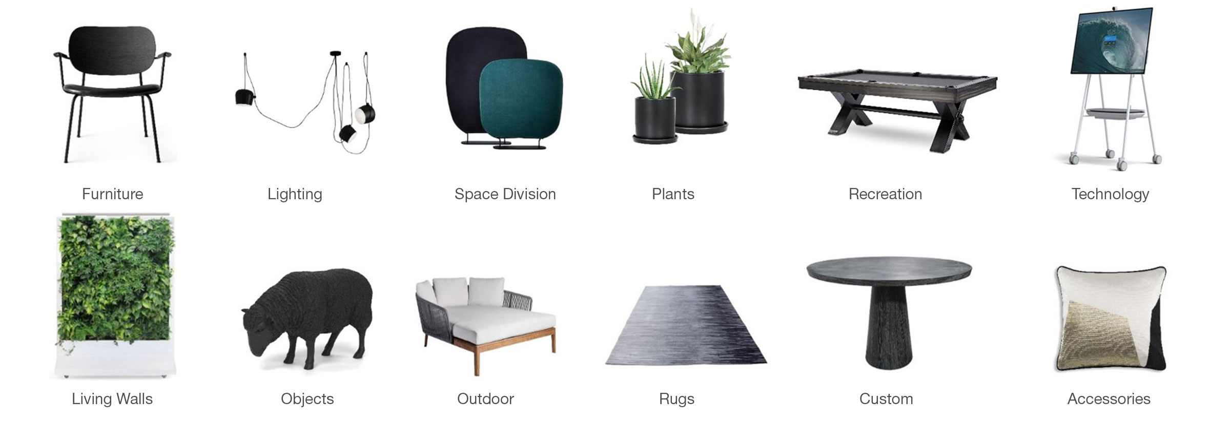 A broad variety of ancillary products for amenity spaces