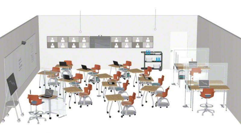 Hybrid learning floorplan focusing on mindset