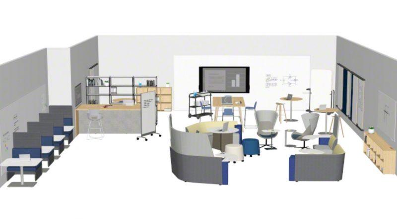 Hybrid learning floorplan focusing on flexibility