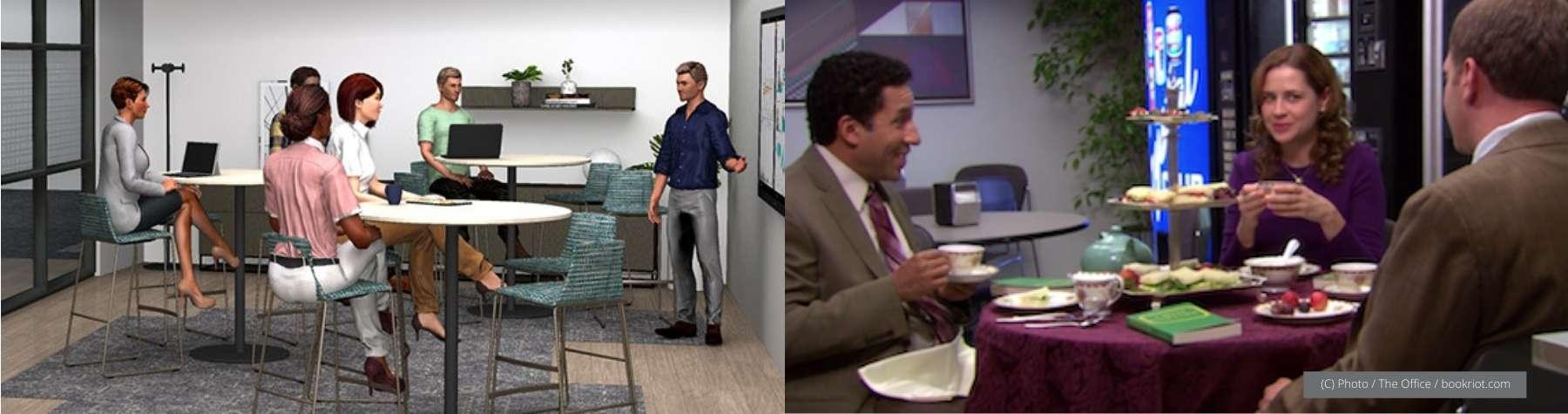 Red Thread's Flex Meeting Zone vs The Office's Break Room