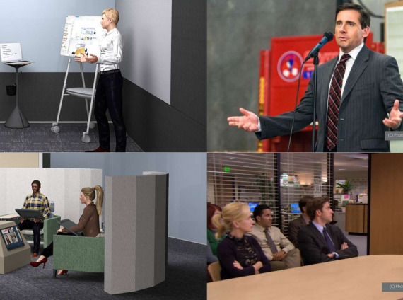 Dunder Mifflin's Reimagined Office: 6 Post-COVID Concept Spaces