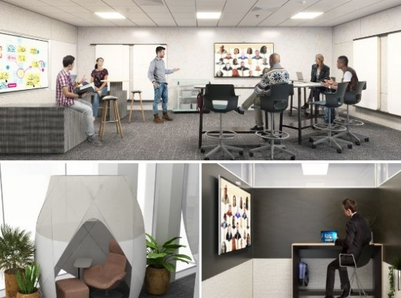 Hybrid Work Environments for Virtual Collaboration