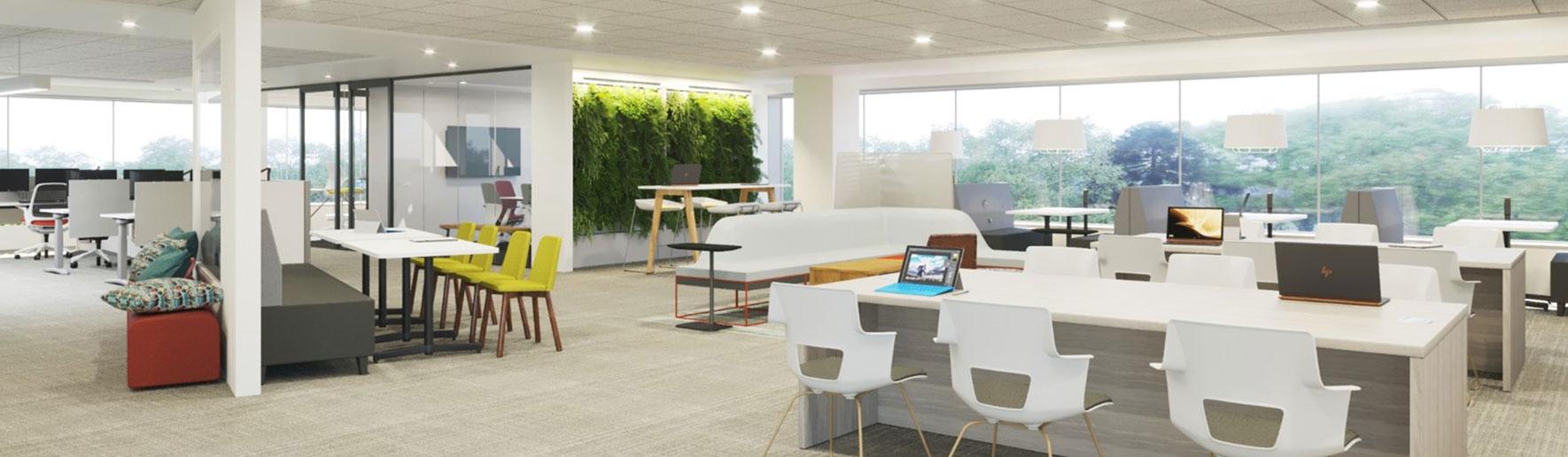 3D rendered work environment