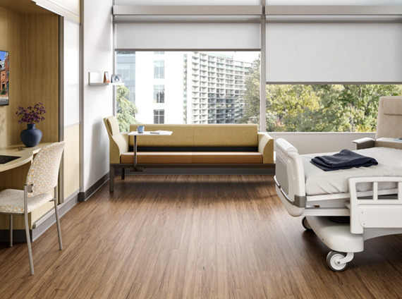 Healthcare high acuity patient room