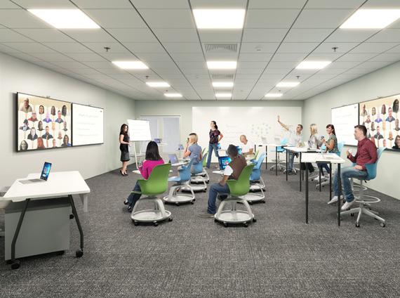higher education hybrid classroom